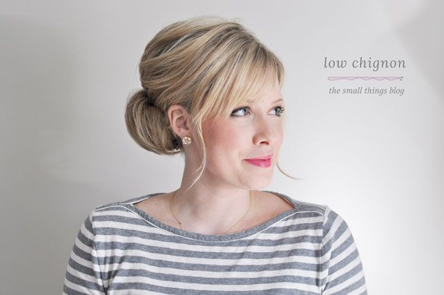 Low Chignon Tutorial- The Small Things Blog