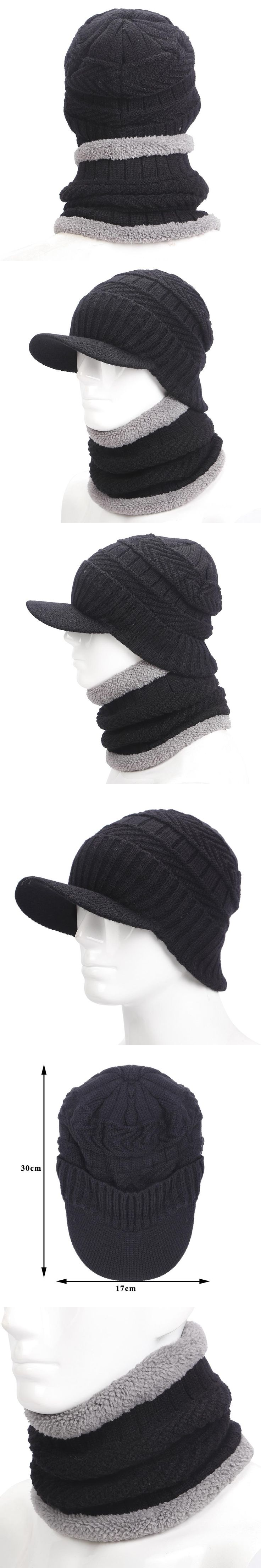 warmer winter hat knit cap scarf cap Winter Hats For men knitted hat men Beanie Knit Hat Skullies Beanies Men Beanies Cap MY