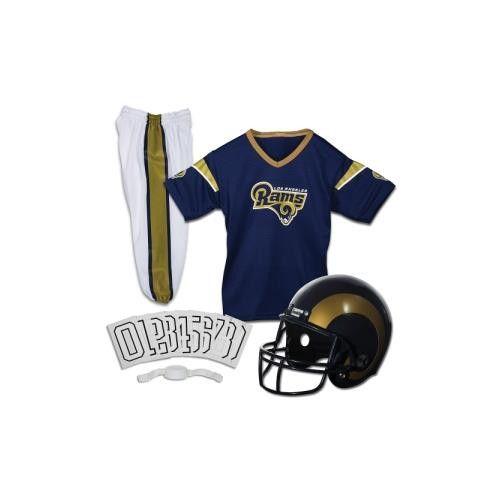 Los Angeles Rams Youth NFL Deluxe Helmet and Uniform Set (Medium)