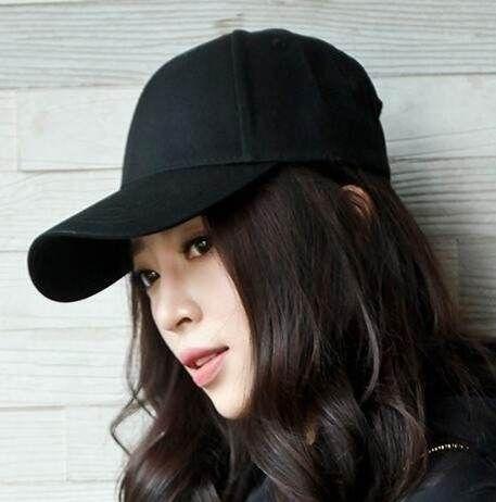 Plain pink baseball cap for teenage girls hip hop baseball cap