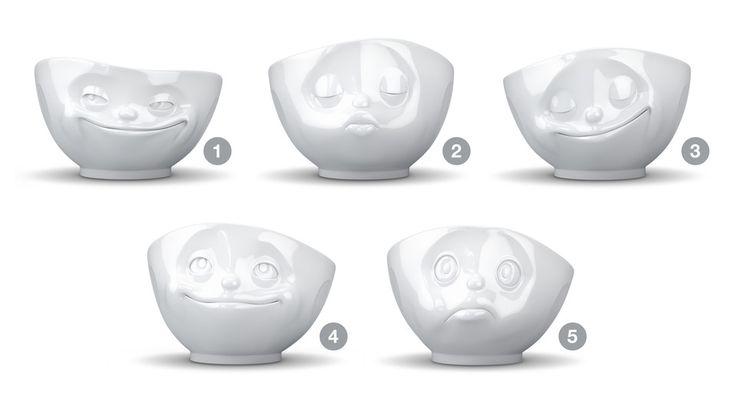 Humørskålene er fra Coolstuff.dk. Jeg gad godt at spise morgenmad af nummer 1, 2 eller 3 :D