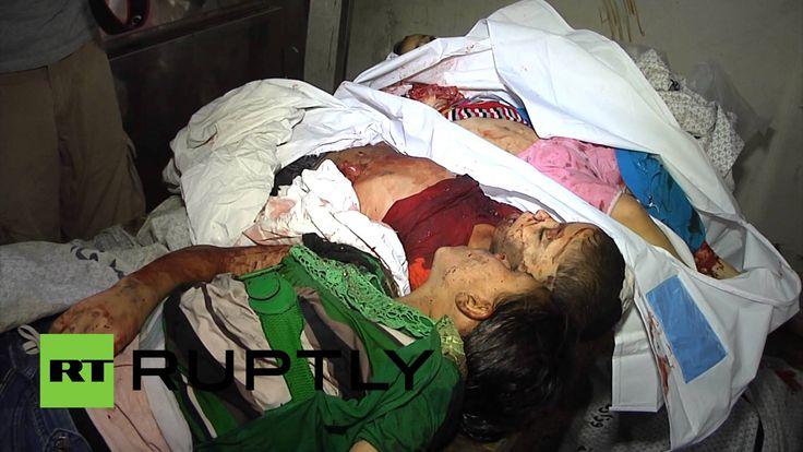 صور لضحايا الهجوم الاسرائيلي على حي الشجاعية بغزة