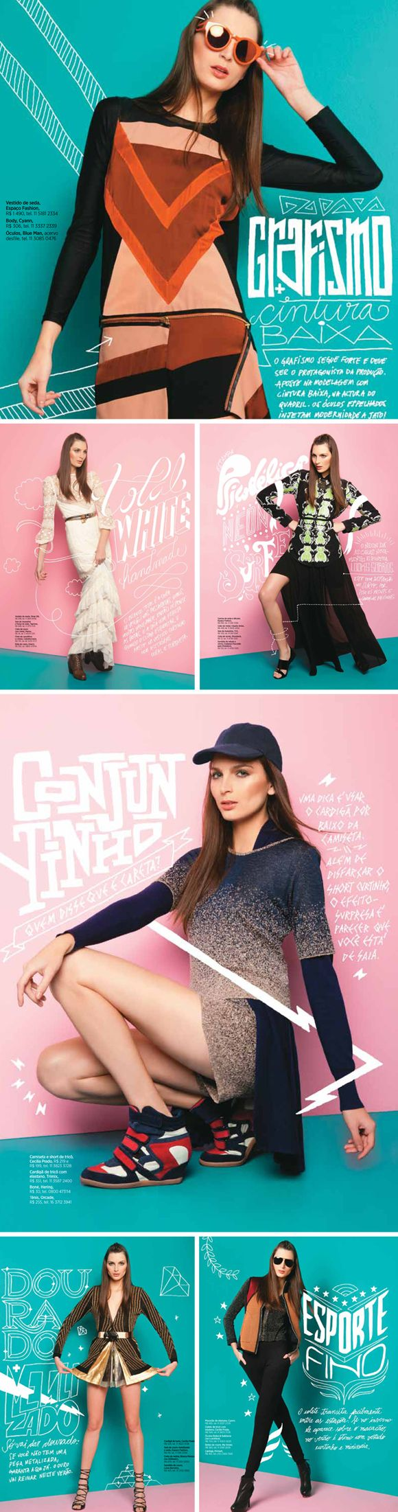 Women's Health - agosto/2012 | Designer: Giovanni Tinti. Reaaly great combination of editorial typography and the blended photographic space