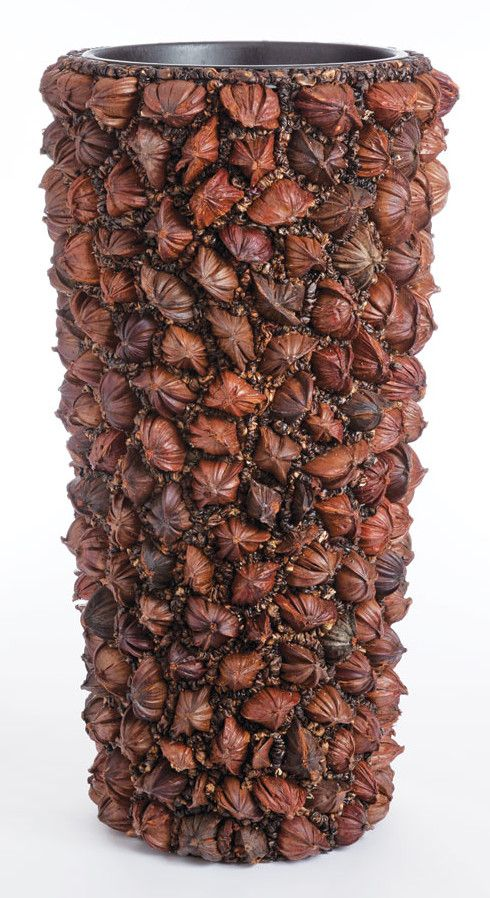 Coconut Cylinder Round Pot Planter