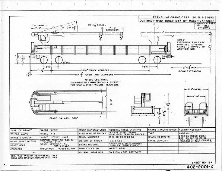 R-20 Traveling Crane Car 104, 105