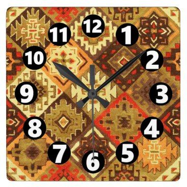 "Title : 761, Tribal, Geometric, Calico Square Wall Clock  Description : Tribal-Geometric-Ethnic Patterns, include Stripes, Arrows, Triangles, Animal-Drawings, ""Woodland-Animals, Floral, Cross, Circles, Plus Signs, Broken Checks, Abstract, ""Spiritual-Inspired"", ""Sacred-Geometric-Shapes, ""Symbolic-Shapes, Feathers, Mystique, Spirits, ""Indian-Language-Symbols"", ""Native-American Symbols"", ""Native-American-Pottery-Designs"",  Product Description : check out our sire for full description"