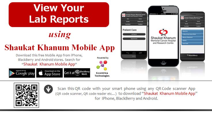online lab reports shaukat khanum Check online lab reports shaukat khanum memorial hospital these days, we are living in a kind of situation where health services are going costly view your lab reports using shaukat khanum mobile app download this free mobile app from iphone, blackberry and android stores.