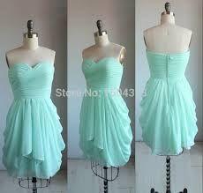 Image result for mint green short grad dress