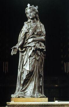 Donatello, Santa Giustina, tra il 1446 e il 1453, statua in bronzo, Padova, Basilica di Sant'Antonio