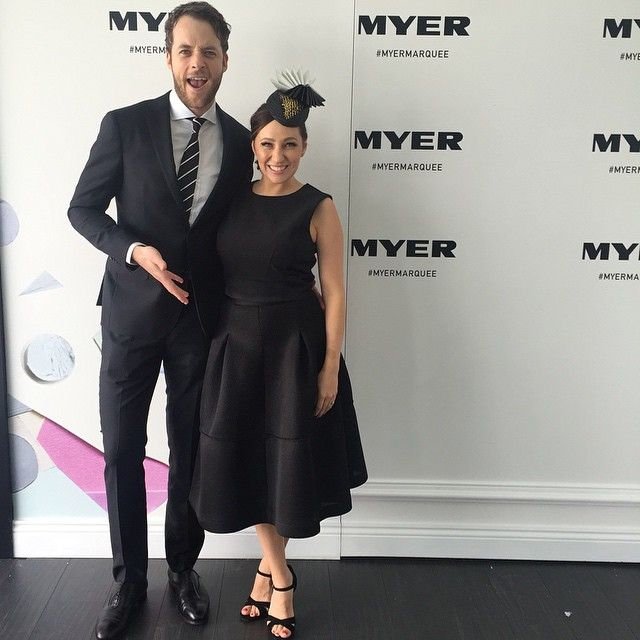 Hamish Blake and Zoe Foster Blake at Derby Day 2014