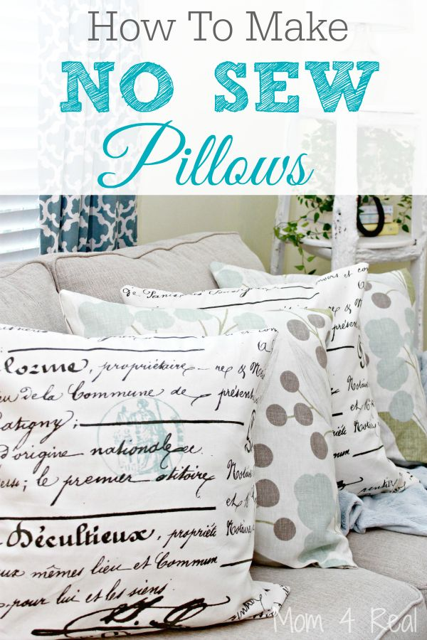 An easy step-by-step tutorial showing how to make No Sew Pillows