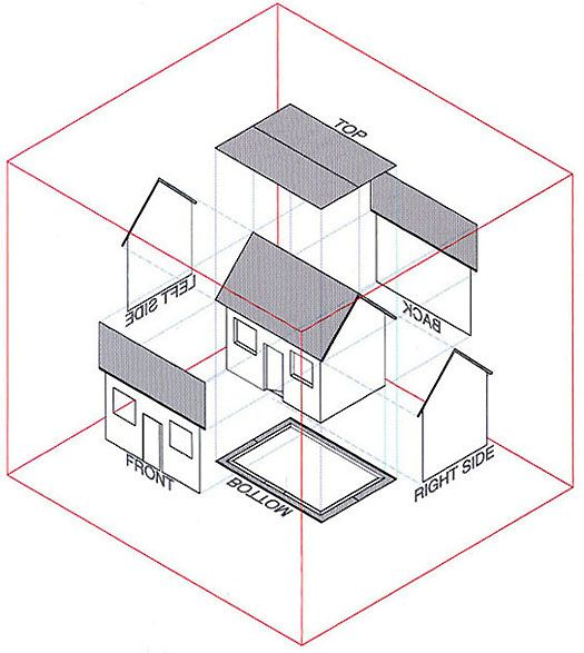 orthographic projection house
