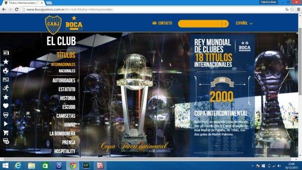 O Boca Juniors é o campeão do Mundial de Clubes de 2000, eles disseram...