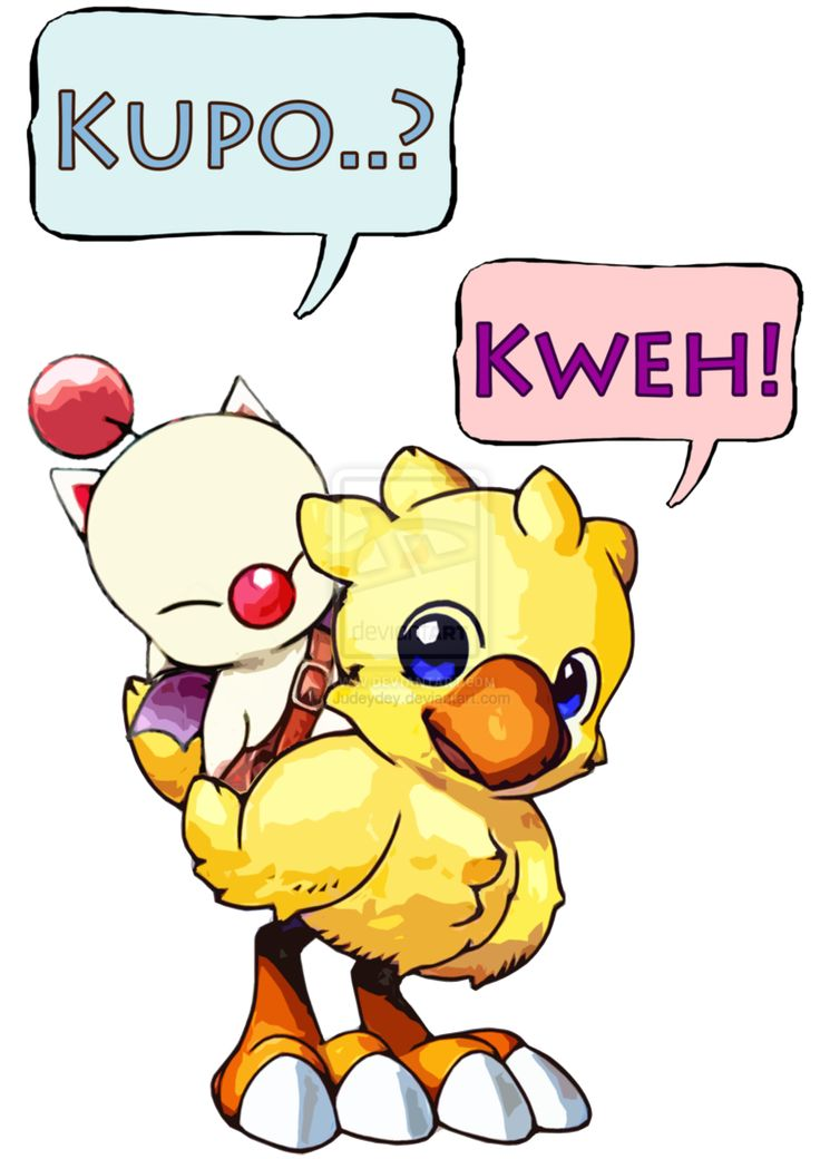 Chocobo and Moogle by Judeydey: ch- digraph, -oo vowel pattern