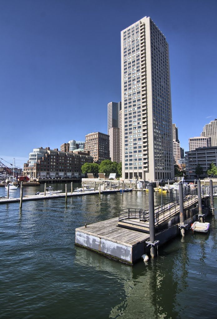 view to boston from central wharf