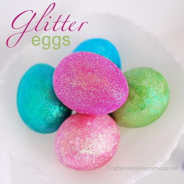 Glitter Easter Eggs #craft #DecoArt