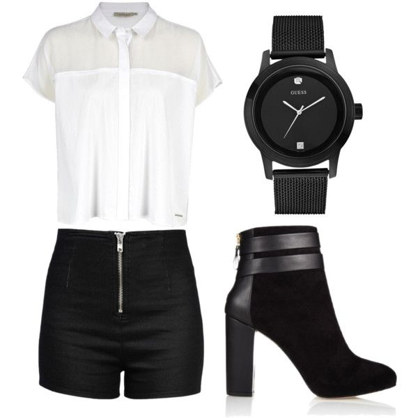 Untitled #60 by henika-hena on Polyvore featuring polyvore fashion style Calvin Klein Love Moschino Coye Nokes GUESS