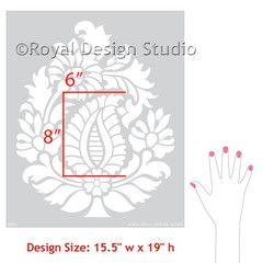 Rani Paisley Motif Stencil by Royal Design Studio Stencils