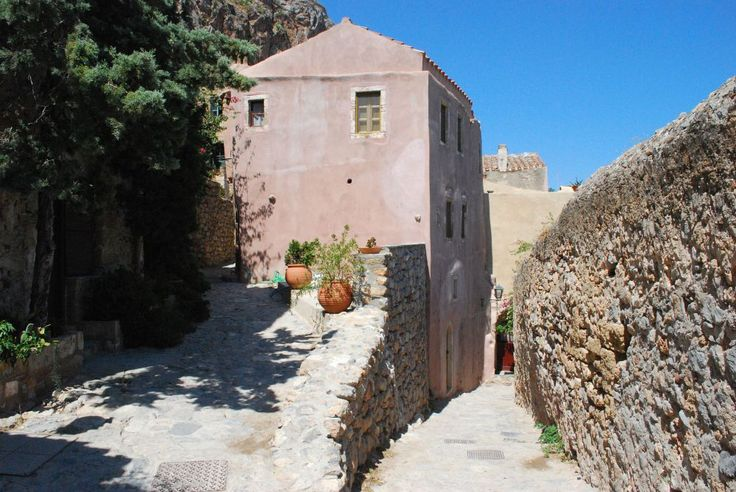 Street inside the fortress of Monemvasia