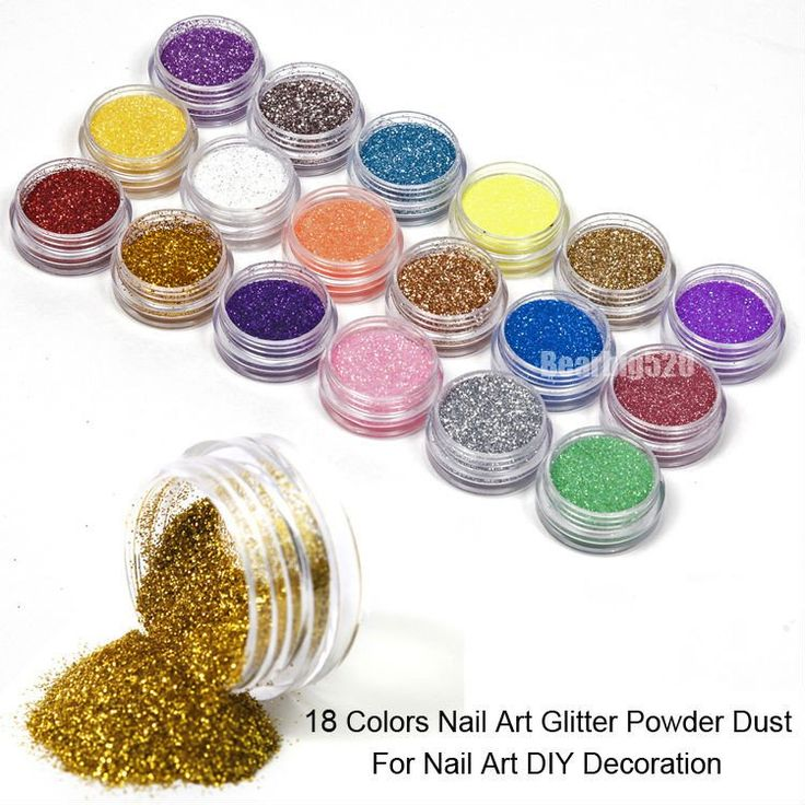 18 Colors Mix UV Gel Nail Art Glitter