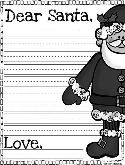 Dear Santa letter template FREEBIE!
