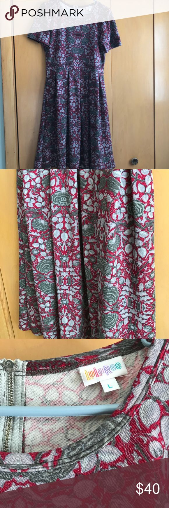 Lularoe Amelia. Size L. Worn Once. Size L. Amelia from Lularoe. Worn one time. Like new. Price negotiable. LuLaRoe Dresses Midi