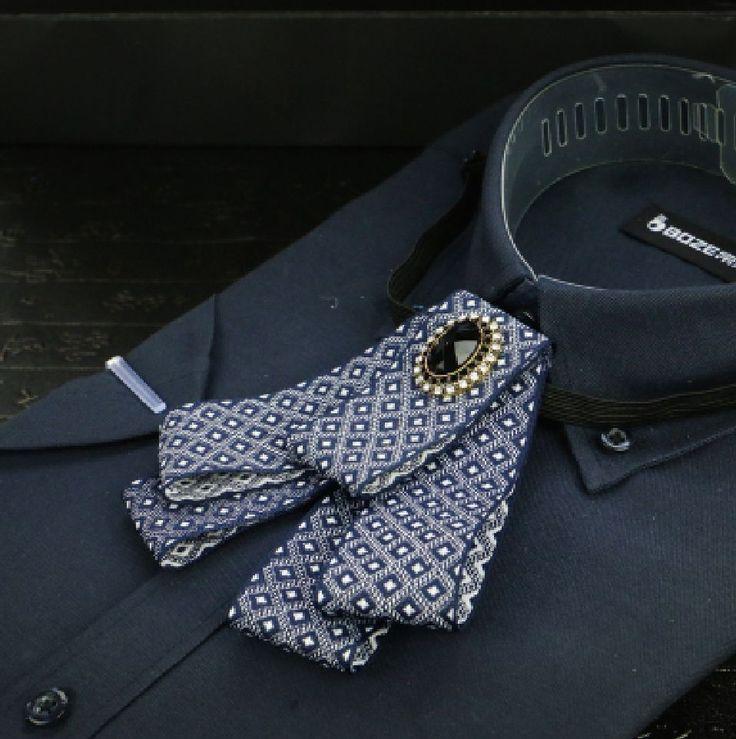Vintage Style Men Bowties Wedding Tuxedo Adjustable Checked Blue Pre-tied Tie #Pre-tiedtie #bowtie #necktie #weddingtie #groom #vintagetie #mentie #Tie