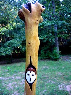 Clay Perry: Hand carved walking sticks and more.. a sale.