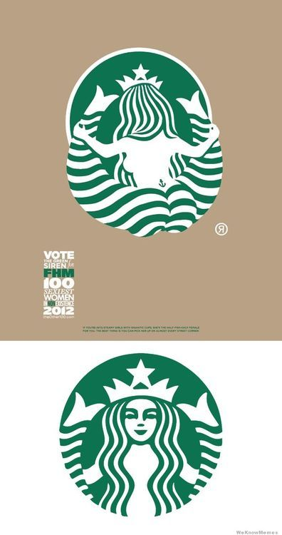 This makes me LOL!!! Now I'll never look at their logo the same. Ha ha ha! | Behind Starbucks logo