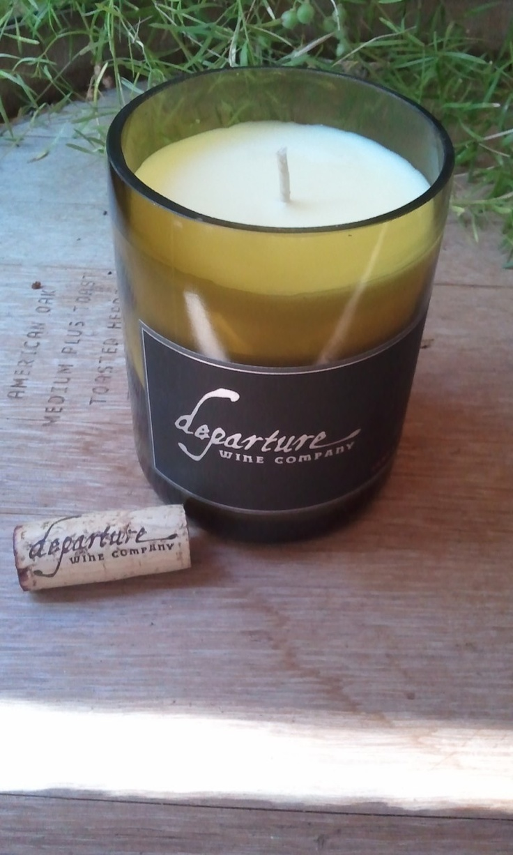 Superb Recycled Wine Bottle Candle Departure