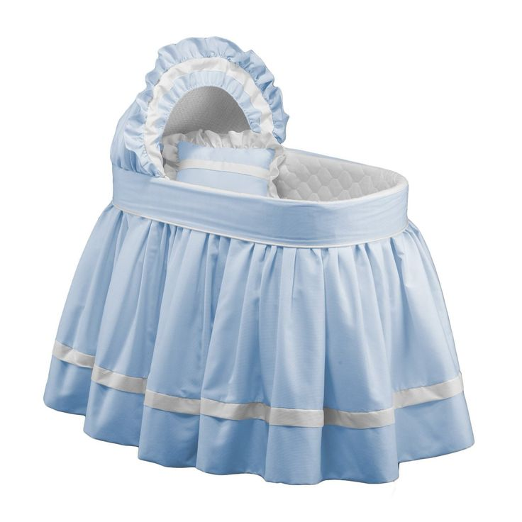 Let your baby sleep in style with this beautiful baby doll blue bassinet set, featuring lovely rippling gathers and ruffles. Featuring white accenting for a timeless classic look, this bassinet gently