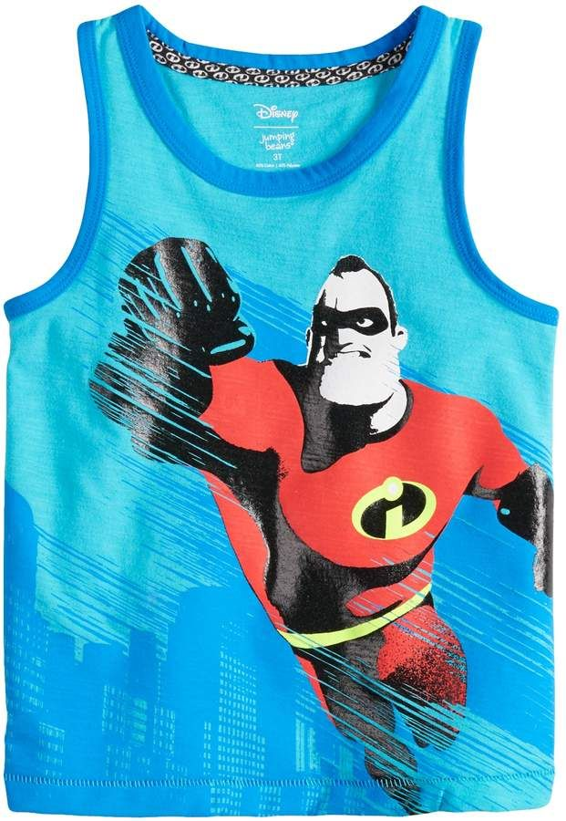 a9108a64014ee Disneyjumping Beans Disney / Pixar The Incredibles II Toddler Boy Mr.  Incredible Ringer Tank Top by Jumping Beans