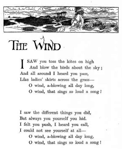 """from """"The Wind"""" by Robert Louis Stevenson."""