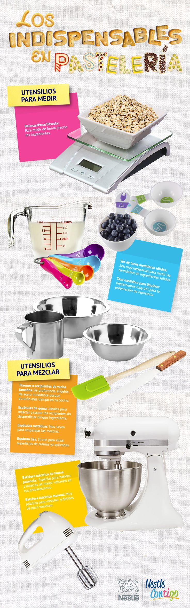 A la hora de preparar pastelería debemos estar al tanto de cuáles son los utensilios que necesitamos para que nos quede increíble. Organizar y saber ocupar estas herramientas es clave para lograr un excelente resultado.