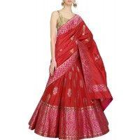Red and pink benarsi lehenga - New In