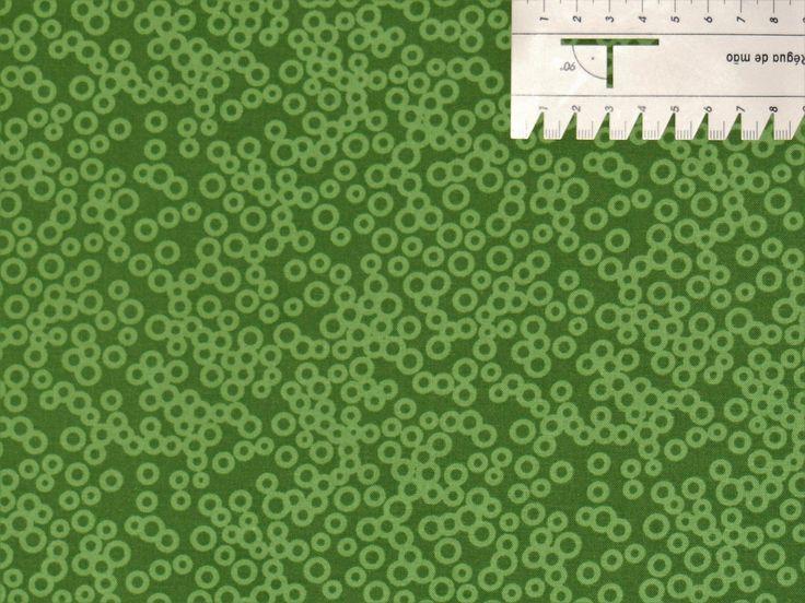 7,27€/m² => 50cmx110cm: Punkte / Kreise - GRÜN Tonal - Patchworkstoff in Bastel- & Künstlerbedarf, Stoffe | eBay!