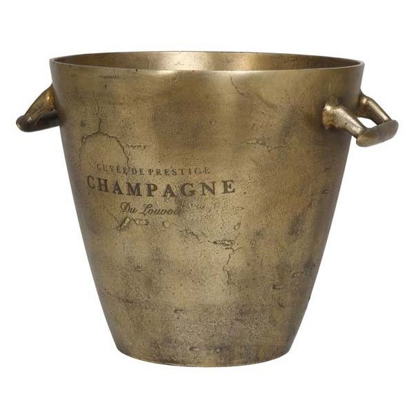 Light & Living - Sektkühler MERCIER Antik Bronze, ausgefallene Champagnerschale, XL Sektkühler für prunkvolle Feste. Material: rohes Metall Ø30,5 x 30 cm