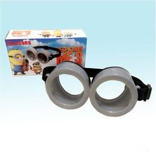 2017 Cute Small Yellow People Glasses Kids Toys Minions Halloween Props Eye Mask Party Favors Gift(China (Mainland))
