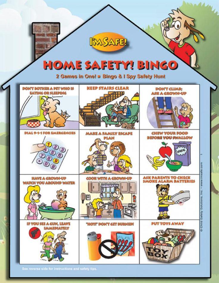 Home Safety Bingo Game English safetytips Pinterest
