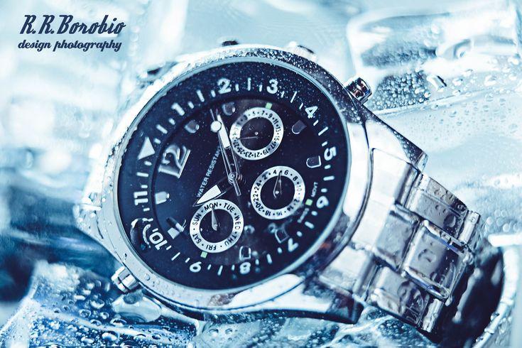 Fotografía de producto: Reloj, hielo y agua