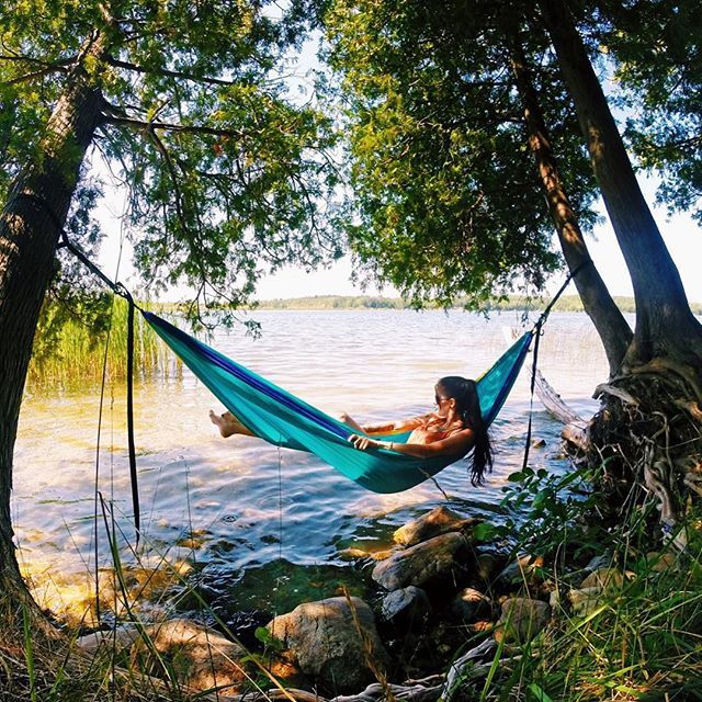 Found the best over-water-hammock-hanging-spot on a couple of leaning trees today  @seattlestravels