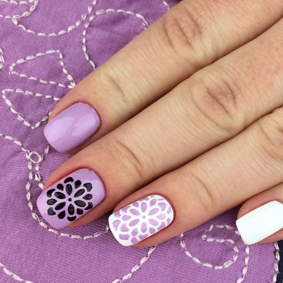 17 best images about stencil nailart on pinterest nail art vinyls and flower nail art. Black Bedroom Furniture Sets. Home Design Ideas