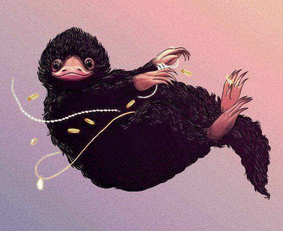 Niffler Print Etsy Phantastische Tierwesen Tierwesen Tiere