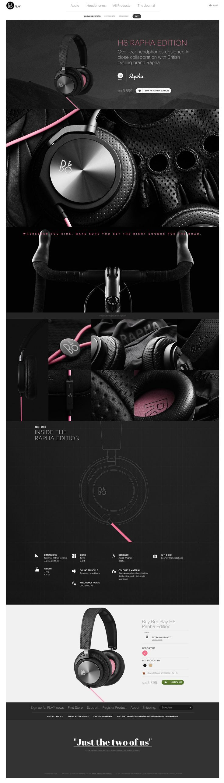 Beoplay H6 Rapha Edition by Spring/Summer