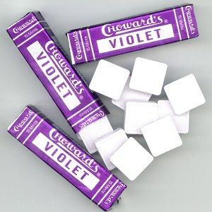 choward's violet - discovered these this weekend. tastes a little bit perfumey + necco wafers