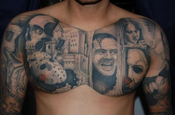 horror movie tattoo sleeve | Famous Faces of Horror Tattoo