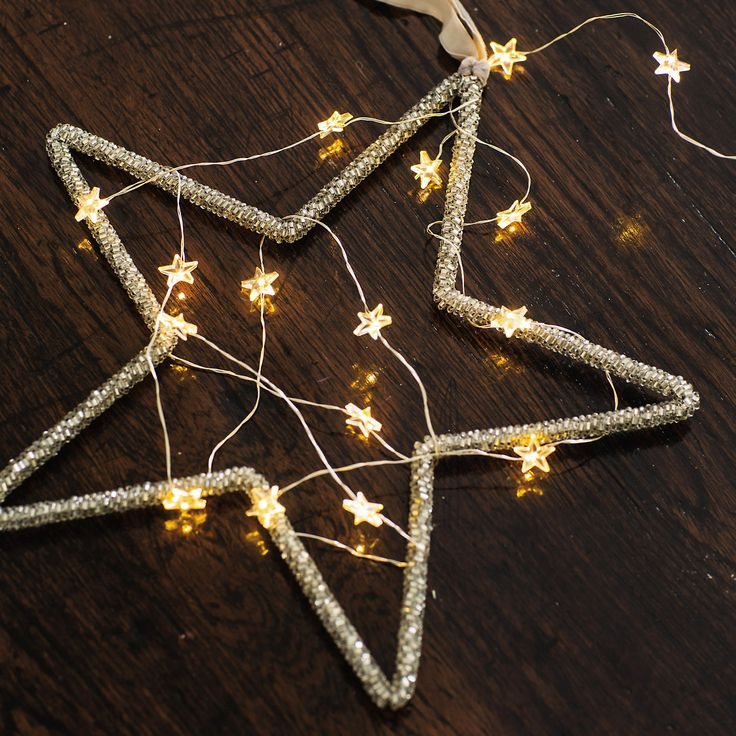Star #fairylights wrapped in a star shaped frame. This is great hung on it's own or with others.