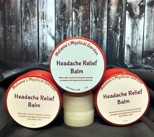 Organic Headache Relief Balm for Migraine, Stress Relief | Sinus Headaches | Tension Headaches | Hormone Headache | Chronic Daily Headaches by MelsMysticalGarden on Etsy