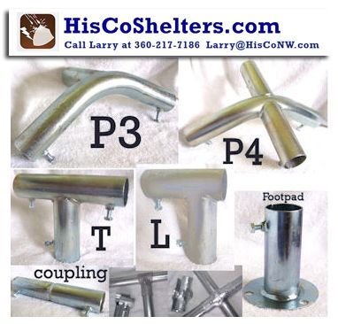 Build-It-Yourself Quality Portable Shelter Parts **FREE Shipping Next 10 Days with $100 Order **Prices from $3.97 to $19.97 **Check out our website www.hiscoshelters.com or Call Larry 360-217-7186 or email: Larry@Hisconw.com #carportparts #garageparts #shelteraccessories #accessories