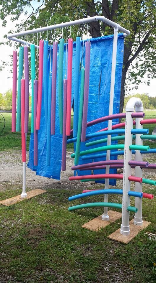 Horse obstacles, right?! My horse would not go through that, lol! Obstacle course for horses with PVC pipe and pool noodles.